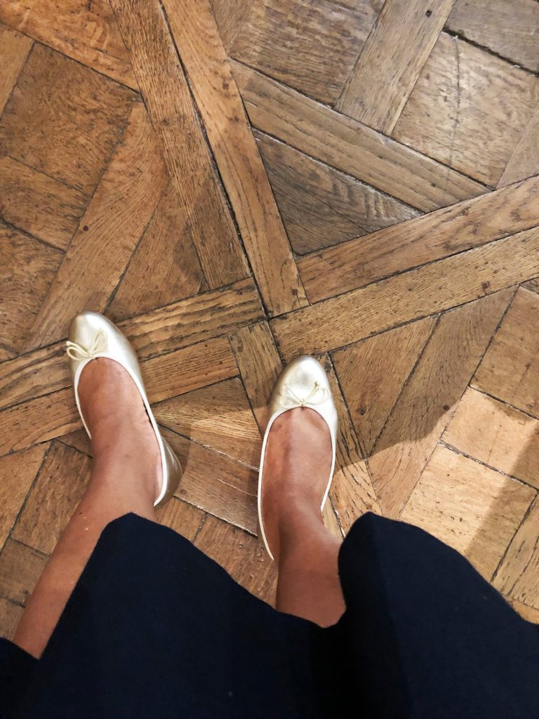 Margaux Demi ballet flat in platinum.