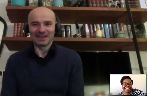 A Zoom call with Parisology's Thierry Collegia.