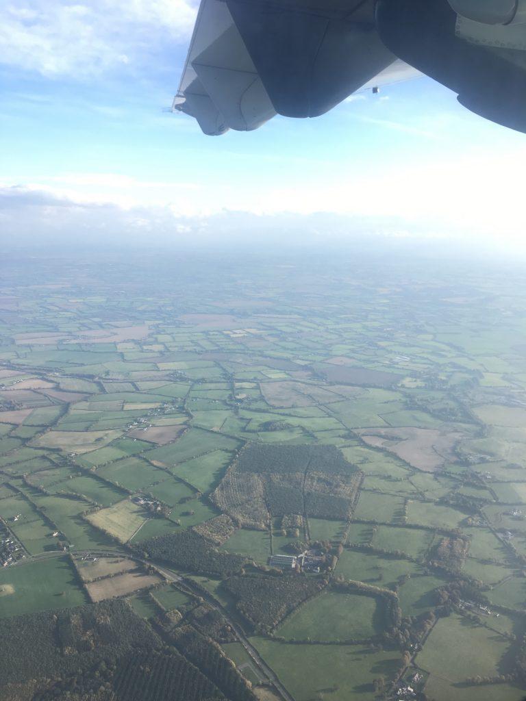 An aerial view of County Dublin.