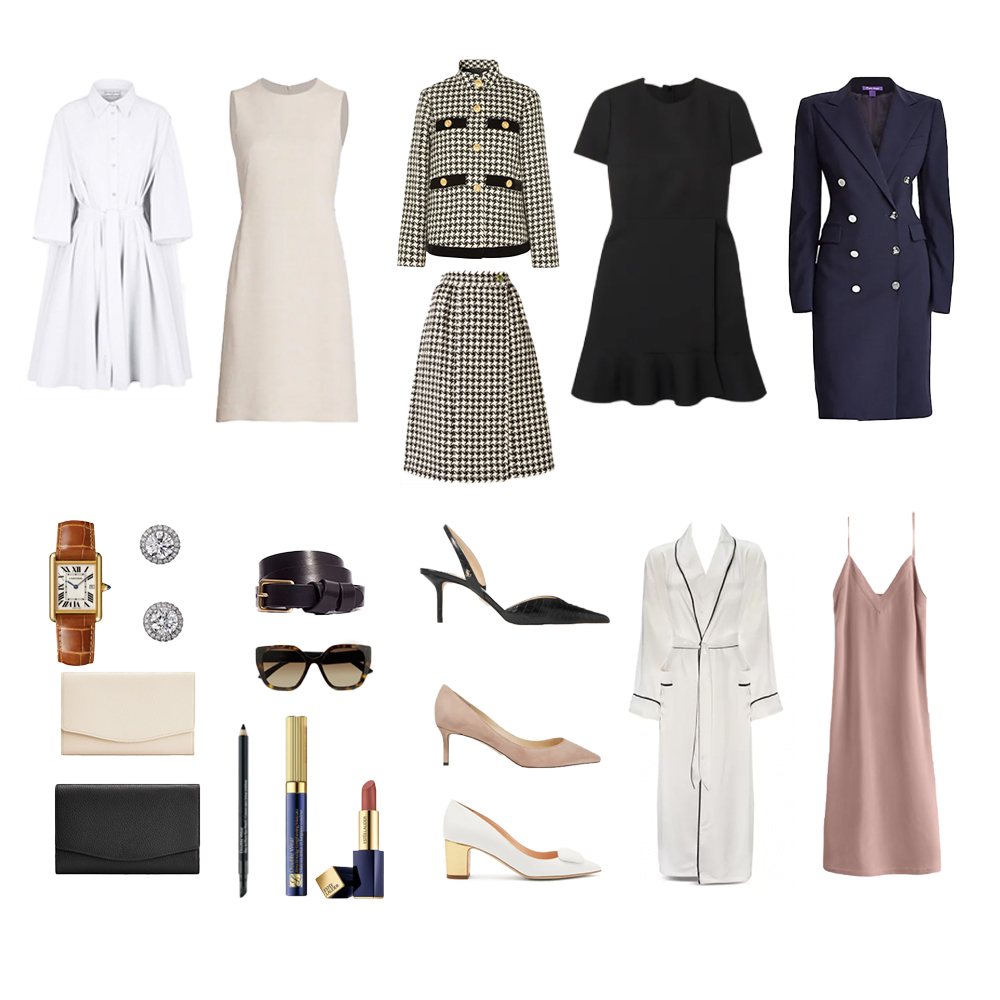Outfits inspired by Audrey Hepburn's wardrobe in How to Steal a Million.