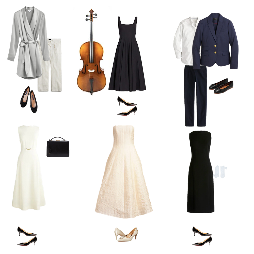 Outfits inspired by Audrey Hepburn's wardrobe in Love in the Afternoon.