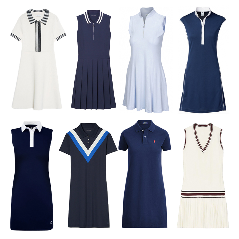 Tennis dresses, golf dresses, polo dresses.
