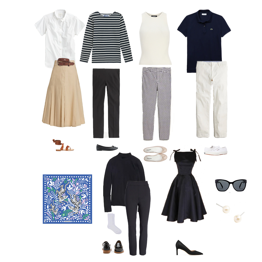 Outfits inspired by Audrey Hepburn.