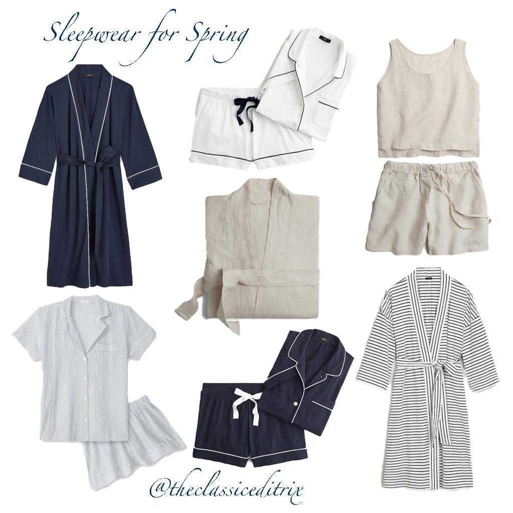 Sleepwear for warm weather